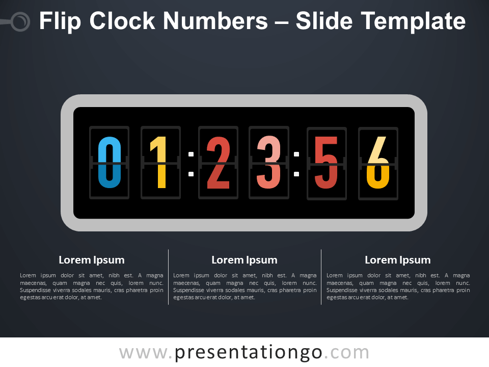 Free Flip Clock Numbers Infographic for PowerPoint