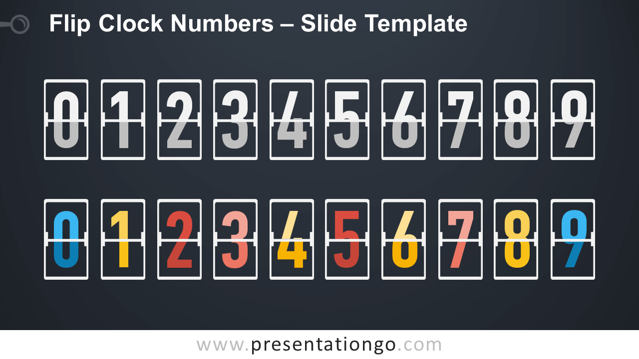 Free Flip Clock Numbers Serie Infographic for PowerPoint and Google Slides