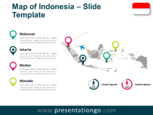 Free Indonesia Map for PowerPoint