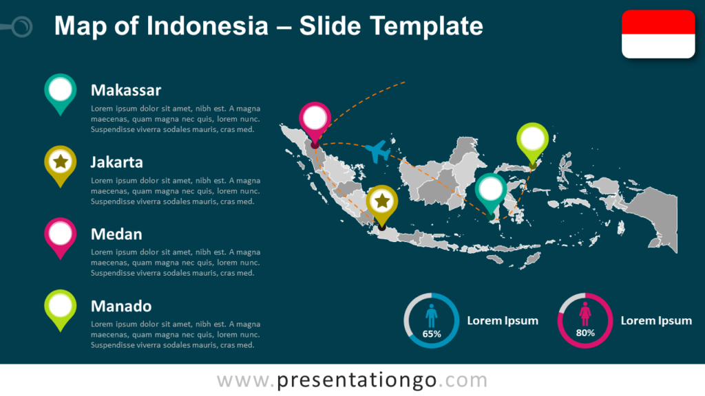 Free Indonesia Map Template for PowerPoint and Google Slides