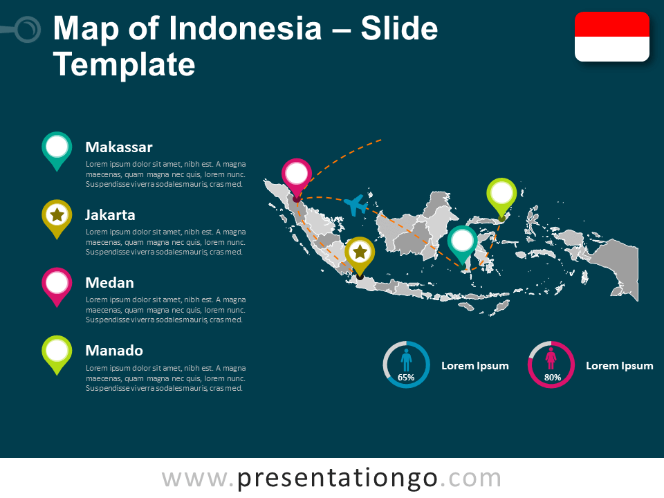 Free Indonesia Map Template for PowerPoint