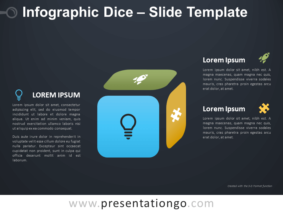 Free Infographic Dice Diagram for PowerPoint