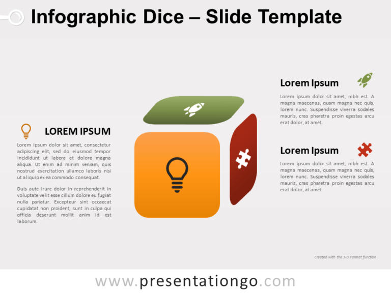 Free Infographic Dice for PowerPoint