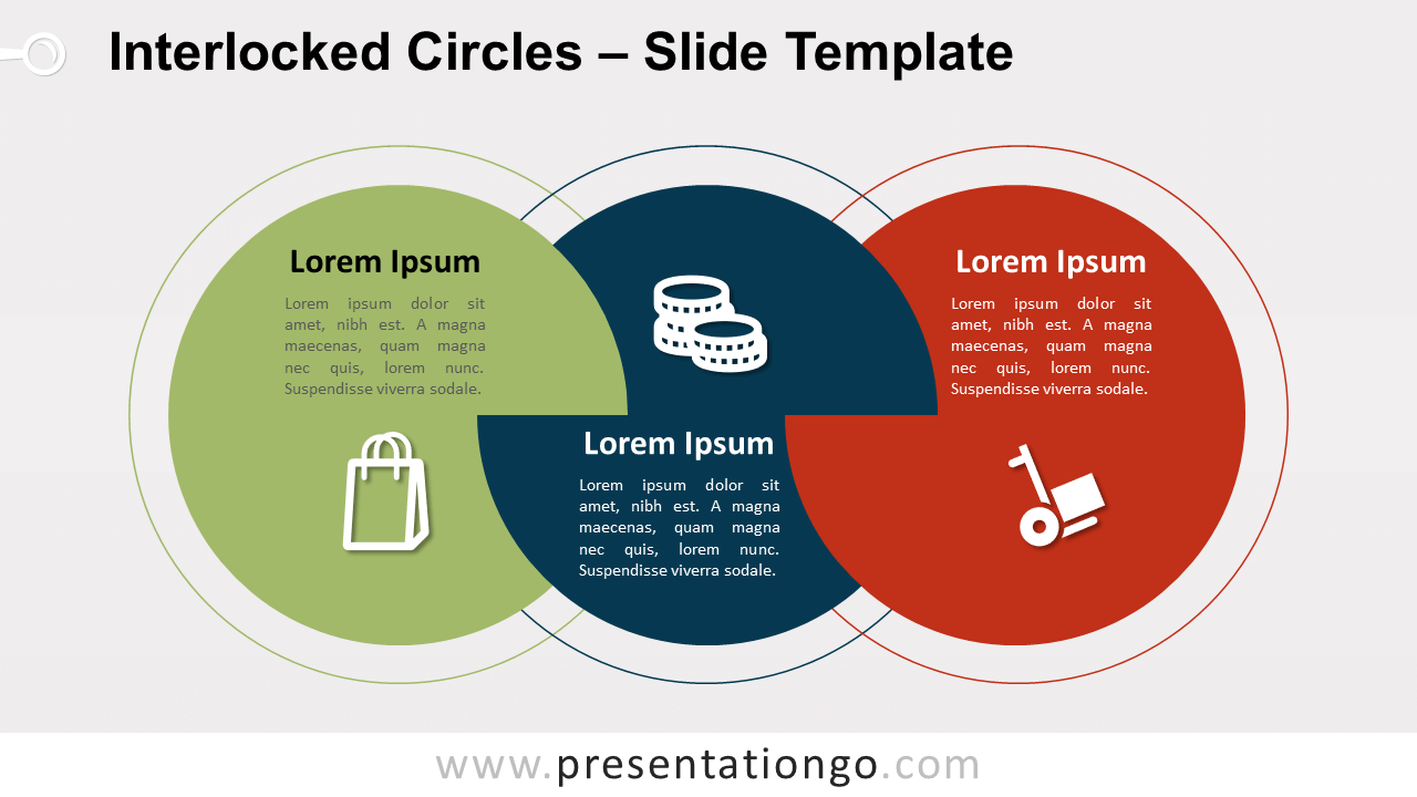Free Interlocked Circles for PowerPoint and Google Slides