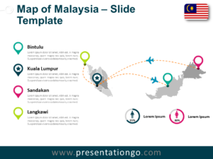 Free Malaysia Map for PowerPoint