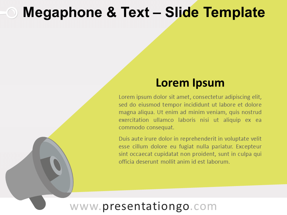 Free Megaphone & Text for PowerPoint