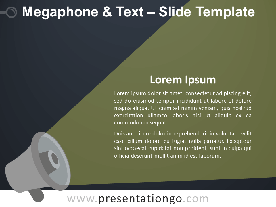 Free Megaphone & Text Template for PowerPoint