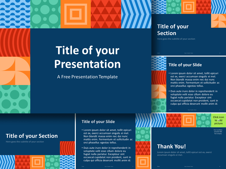 Free NEO GEOMETRIC Template for PowerPoint and Google Slides