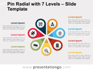 Free Pin Radial with 7 Levels for PowerPoint