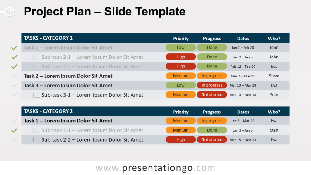 Free Project Plan for PowerPoint and Google Slides