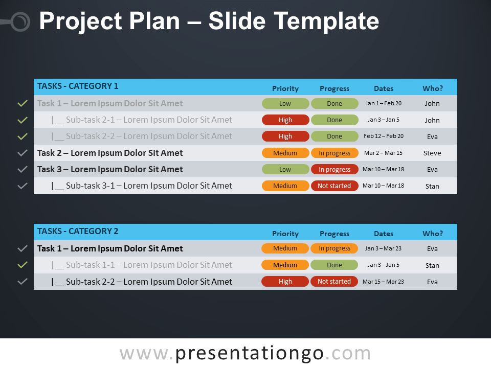 Free Project Plan Template for PowerPoint