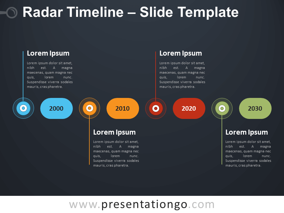 Free Radar Timeline Infographic for PowerPoint