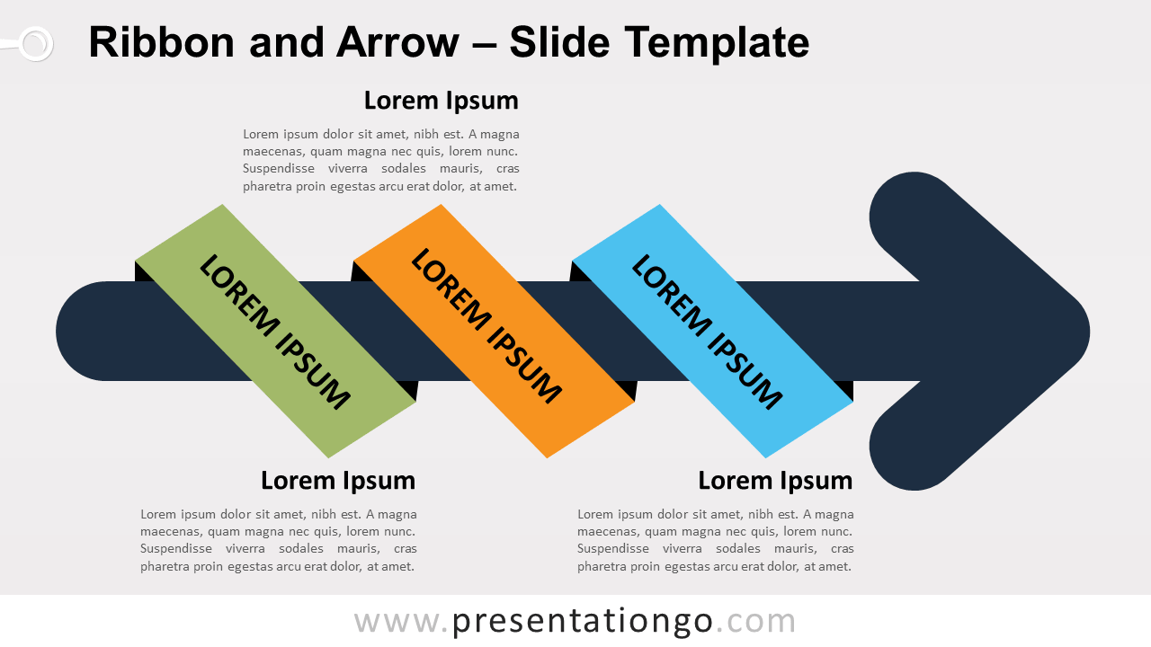 Free Ribbon Arrow for PowerPoint and Google Slides