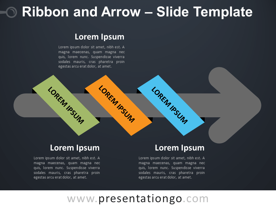 Free Ribbon Arrow Timeline for PowerPoint