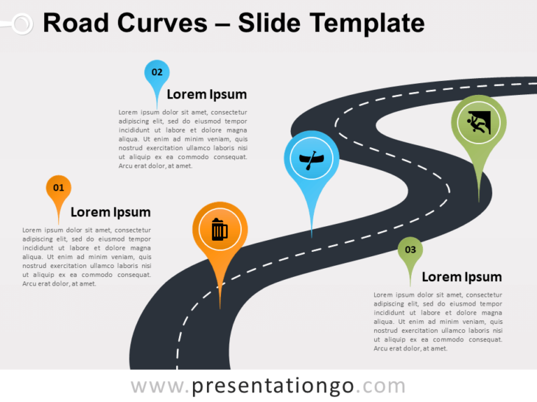 Free Road Curves for PowerPoint