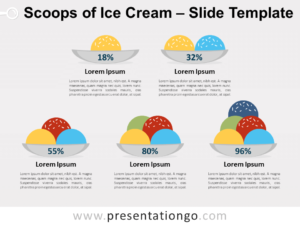 Free Scoops of Ice Cream for PowerPoint