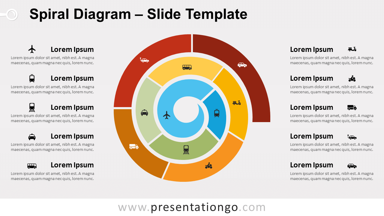 Free Spiral Diagram for PowerPoint and Google Slides