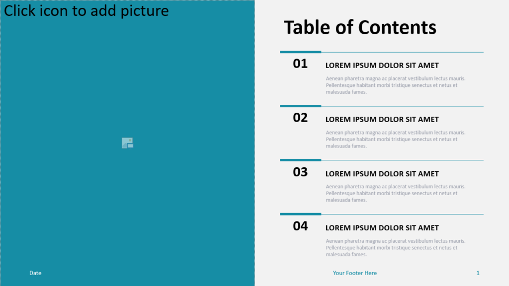 Free Table Contents Menu for PowerPoint and Google Slides