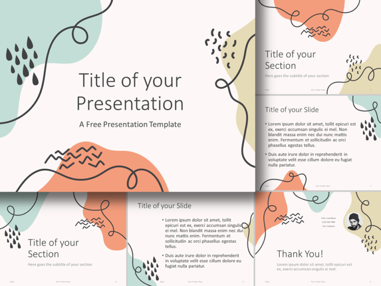 Free Trendy Memphis Template for PowerPoint and Google Slides