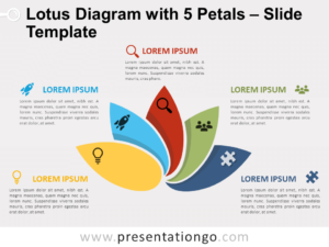 Free Yet Another Lotus Diagram with 5 Petals for PowerPoint