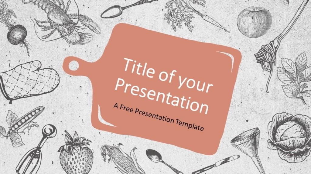 Free Cooking Template for Google Slides - Cover Slide
