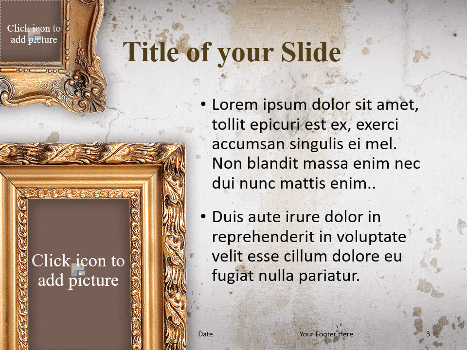 Free Renaissance Frames Template for PowerPoint – Title and Content (Variant 2)