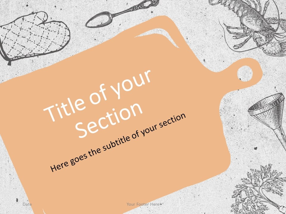 Free Cooking Template for PowerPoint – Section Slide (Variant 1)