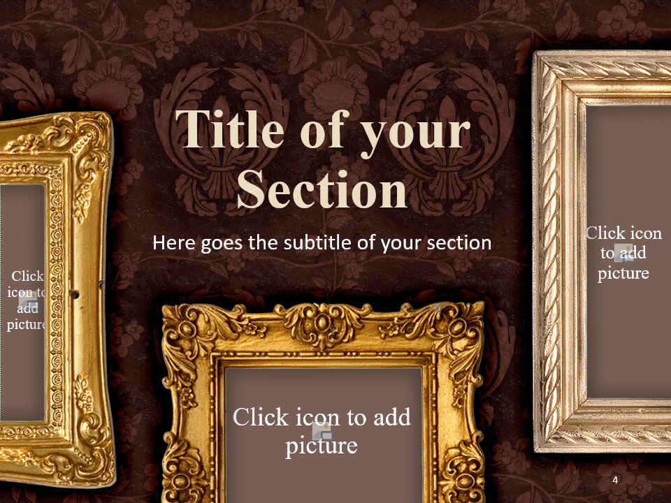 Free Renaissance Frames Template for PowerPoint – Section Slide (Variant 1)