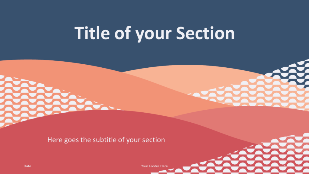Free Tuscany Template for Google Slides – Section Slide (Variant 1)