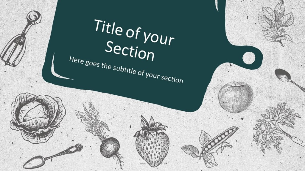Free Cooking Template for Google Slides – Section Slide (Variant 2)