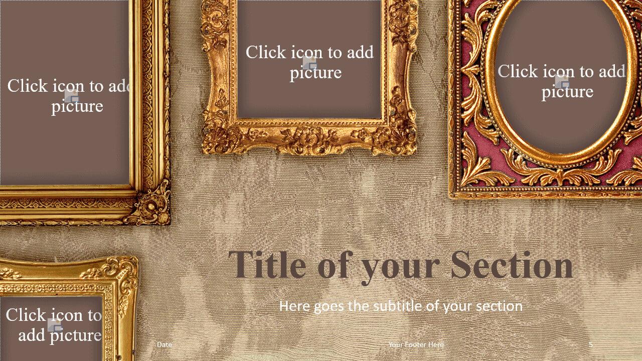 Free Renaissance Frames Template for Google Slides – Section Slide (Variant 2)