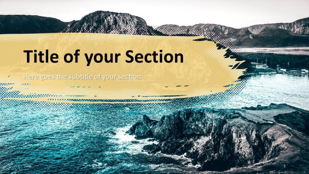 Free Retro Pop Mountains Template for Google Slides – Section Slide (Variant 2)
