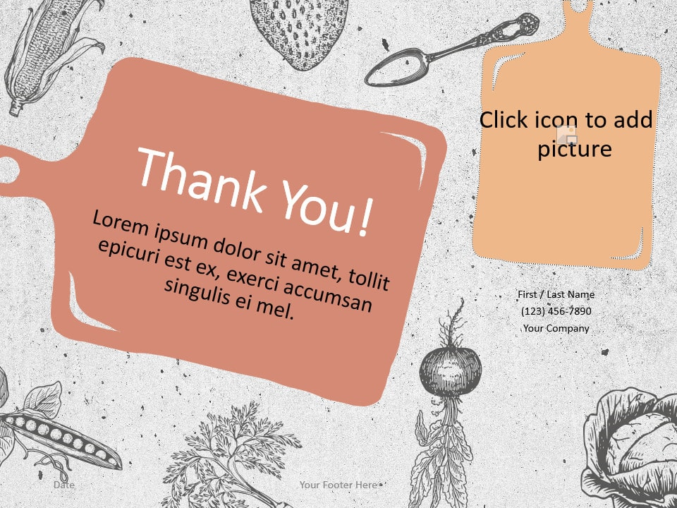 Free Cooking Template for PowerPoint - Closing / Thank you