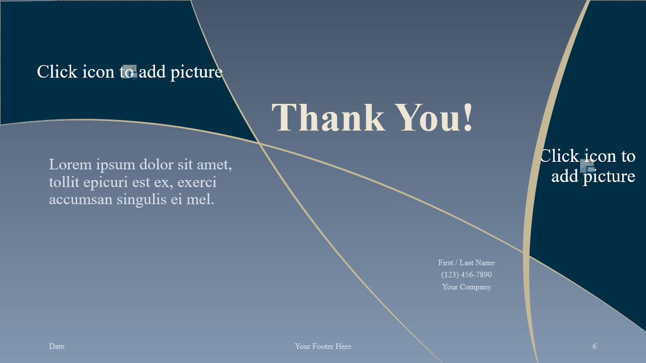 Free Crescents Template for Google Slides - Closing / Thank you