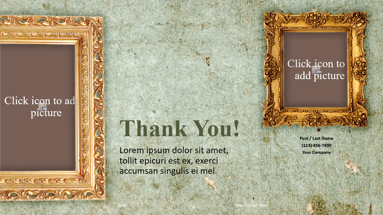 Free Renaissance Frames Template for Google Slides - Closing / Thank you