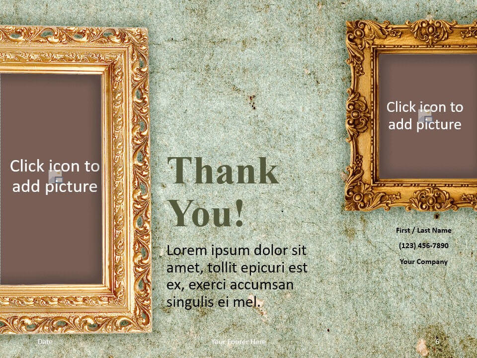 Free Renaissance Frames Template for PowerPoint - Closing / Thank you