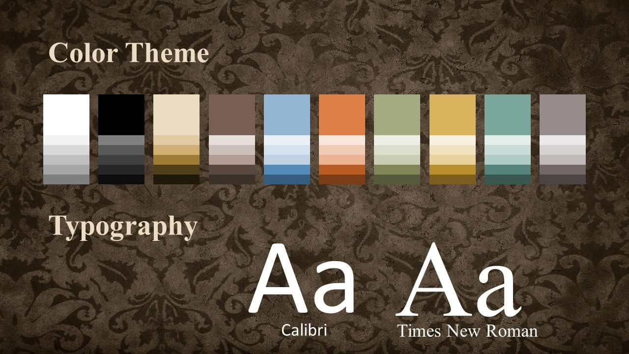 Free Renaissance Frames Template for Google Slides – Colors and Fonts