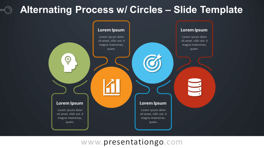 Free Alternating Process with Circles Infographic for PowerPoint and Google Slides