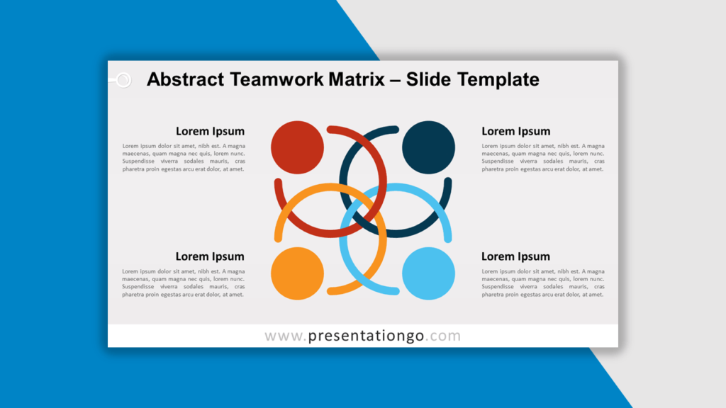 Best Matrix Charts - Abstract Teamwork Matrix for PowerPoint and Google Slides