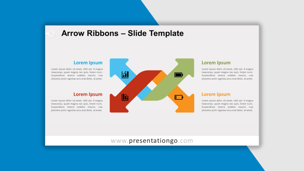 Best Matrix Charts - Arrow Ribbons for PowerPoint and Google Slides
