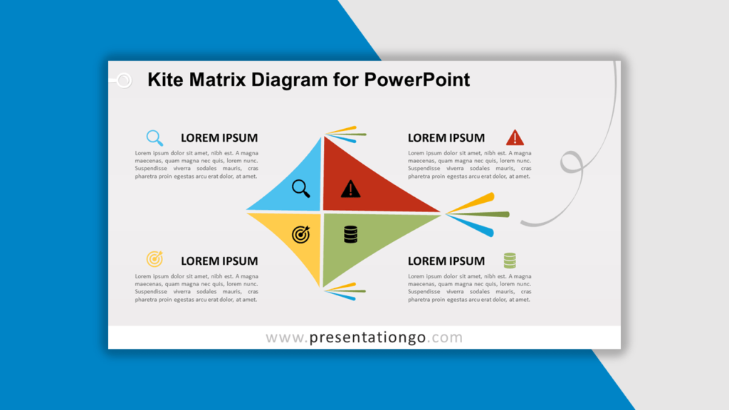 Best Matrix Charts - Kite Matrix Diagram for PowerPoint
