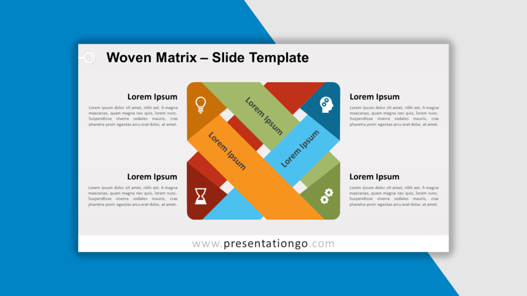 Best Matrix Charts - Woven Matrix for PowerPoint and Google Slides