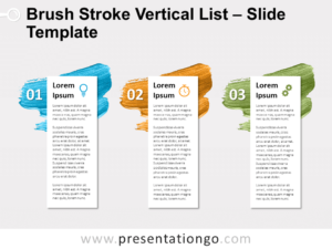 Free Brush Stroke Vertical List for PowerPoint