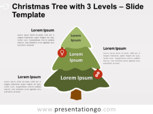 Free Christmas Tree with 3 Levels for PowerPoint