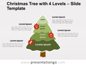 Free Christmas Tree with 4 Levels for PowerPoint