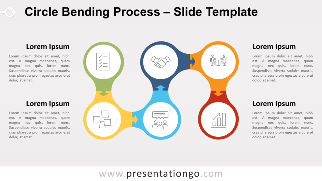 Free Circle Bending Process for PowerPoint and Google Slides