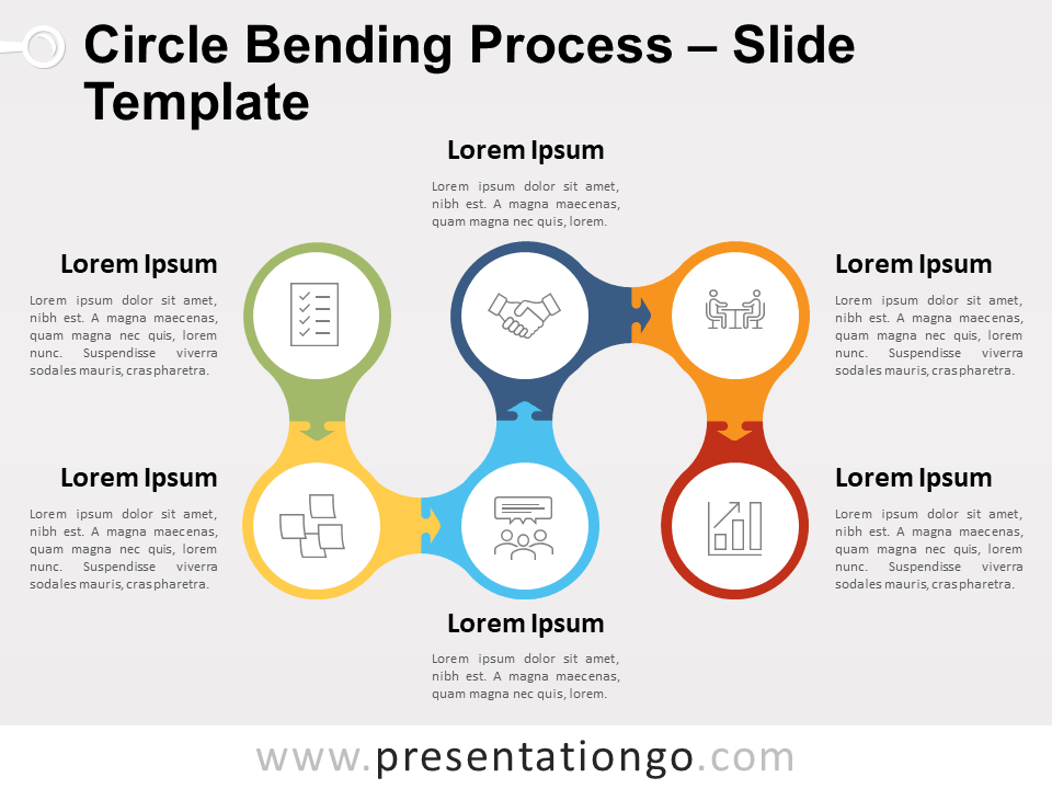 Free Circle Bending Process for PowerPoint