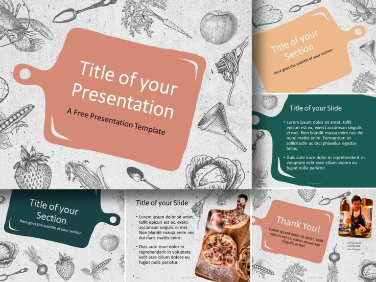 Free Cooking Template for PowerPoint and Google Slides