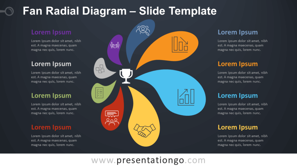 Free Fan Radial Diagram Infographic for PowerPoint and Google Slides