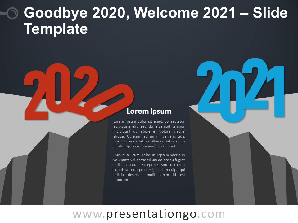 Free Goodbye 2020, Welcome 2021 Infographic for PowerPoint